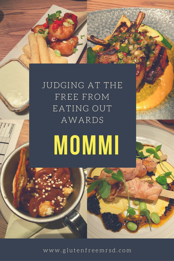 adventures of a gluten free globetrekker Judging in the UK's Free From Eating Out Awards: Mommi Restaurant Gluten Free Travel UK
