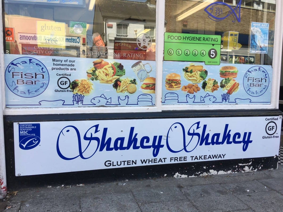adventures of a gluten free globetrekker Gluten Free Fish and Chips: Shakey Shakey, Herne Bay Kent Kent  gluten free UK gluten free fish and chips