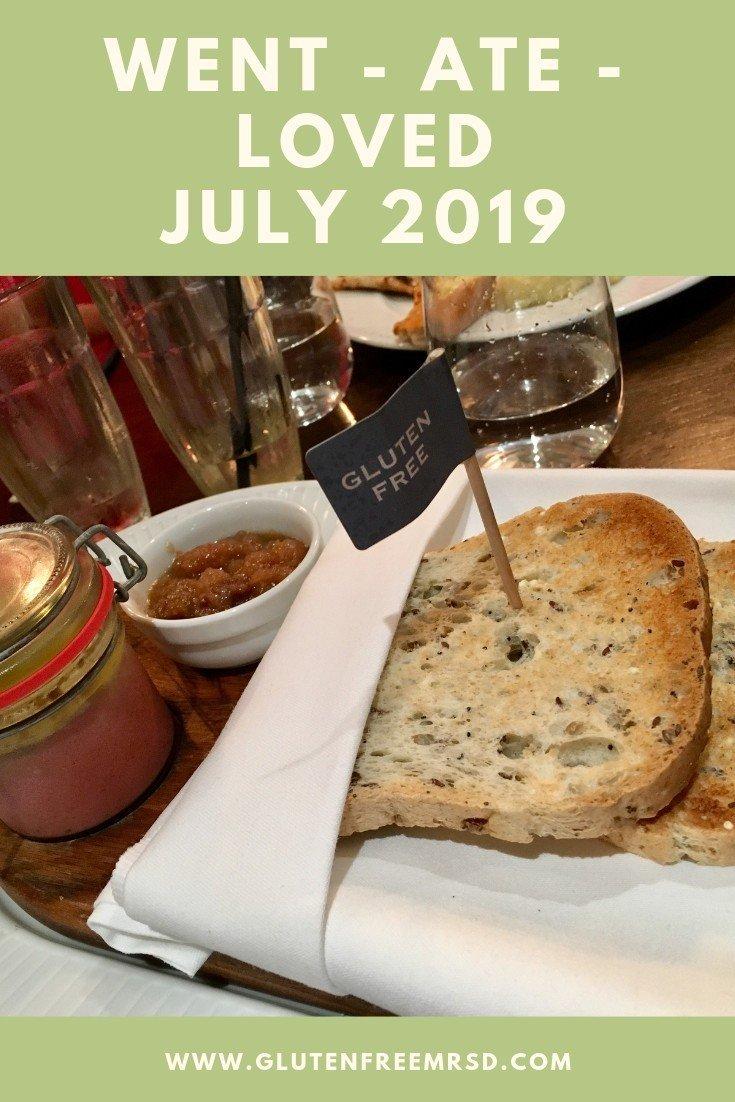 adventures of a gluten free globetrekker Went - Ate - Loved: July 2019 Gluten Free News  gluten free London gluten free Devon