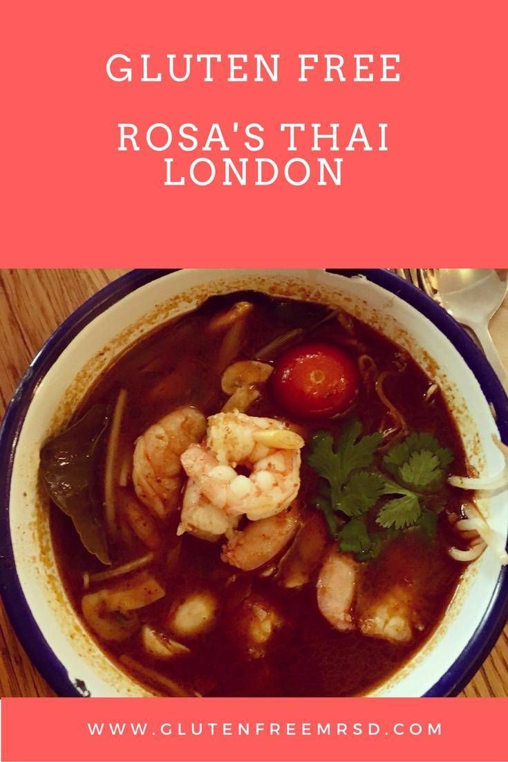 gluten free restaurant London Rosa's Thai