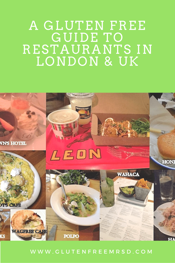 gluten free restaurants in London and UK