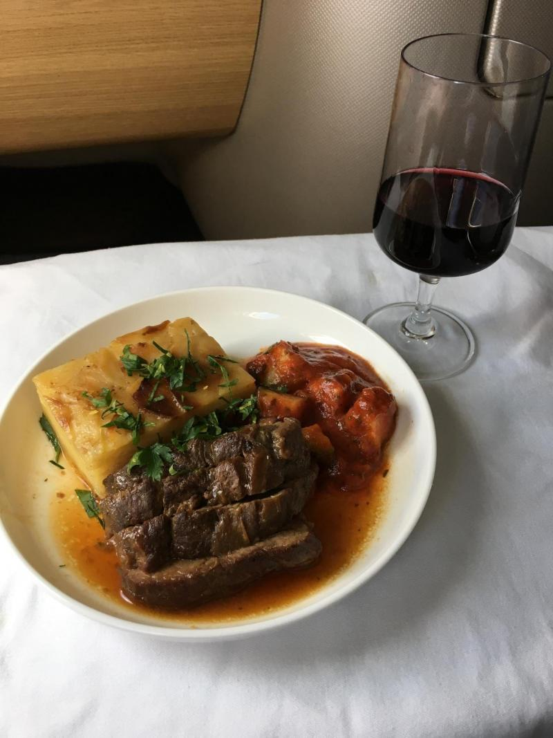 adventures of a gluten free globetrekker Qantas Business Class gluten free meal