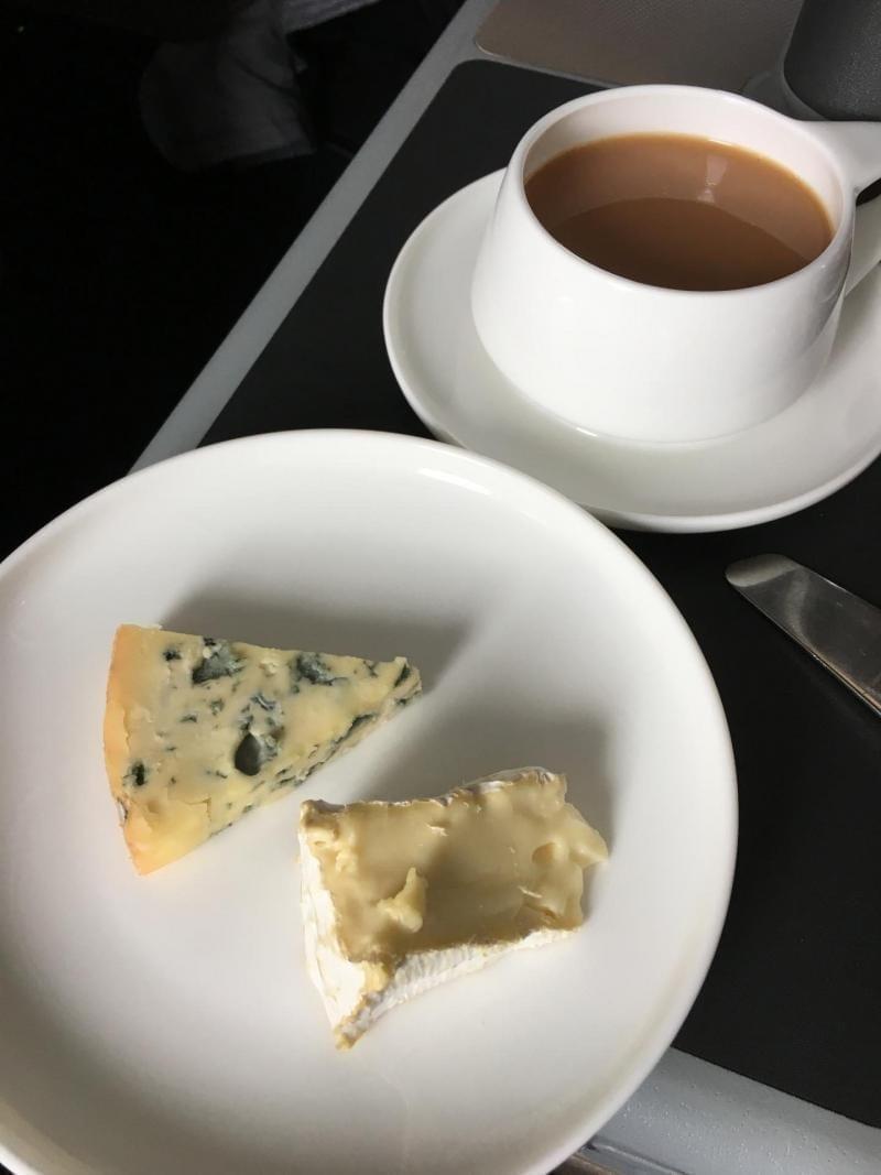 Qantas Business Class gluten free meal