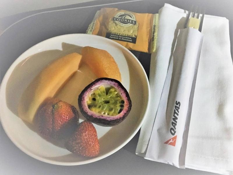 Qantas Business Class gluten free meal