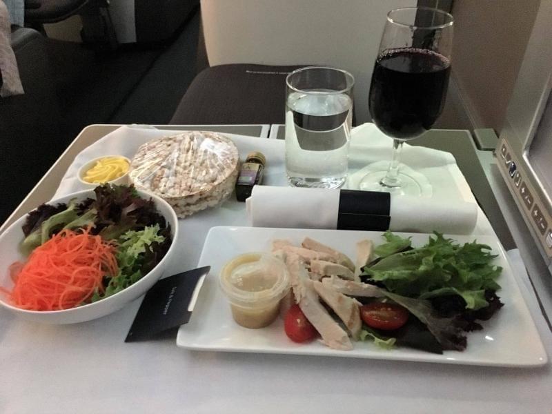 gluten free in flight meal British Airways Club World