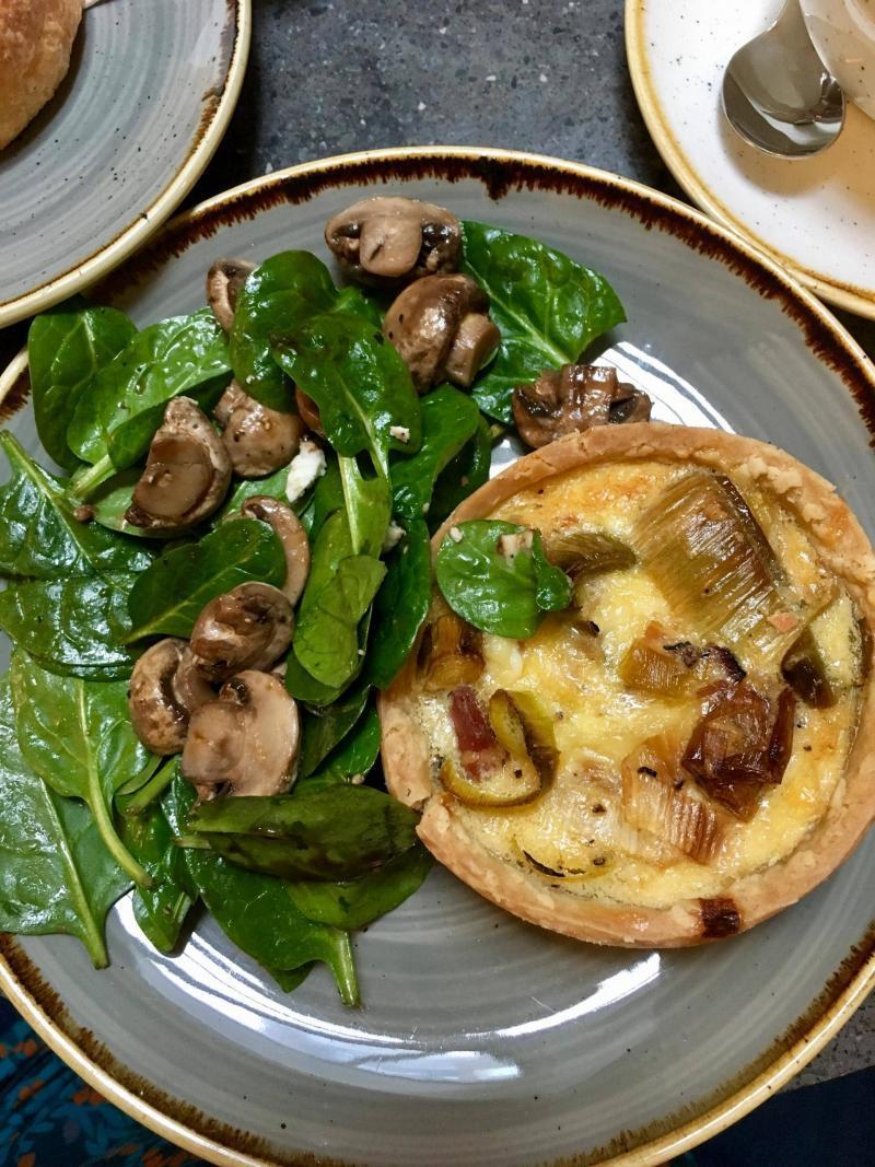 Beyond Bread London gluten free quiche