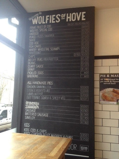adventures of a gluten free globetrekker Gluten Free Fish & Chips: Wolfies of Hove East Sussex