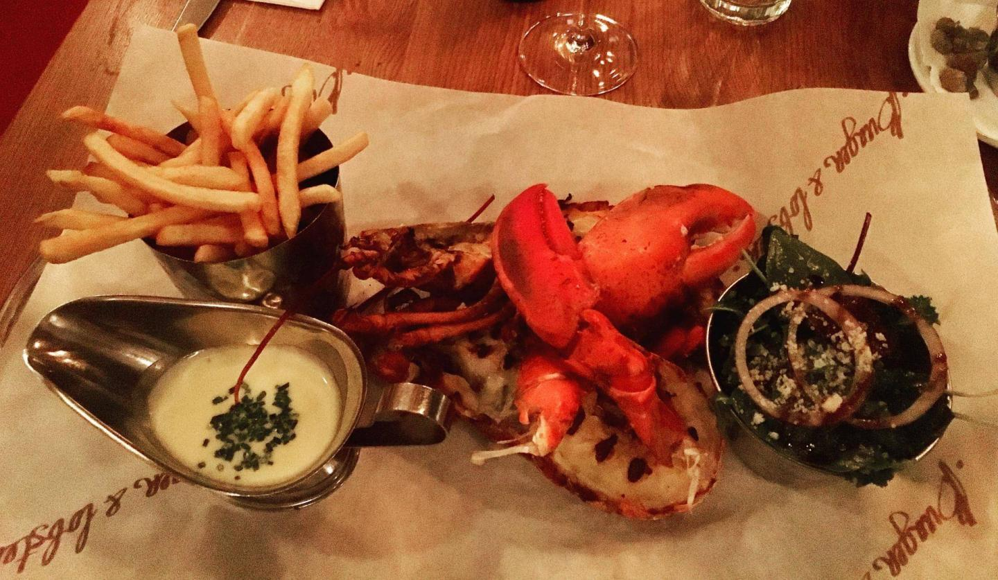 Gluten free at Burger & Lobster