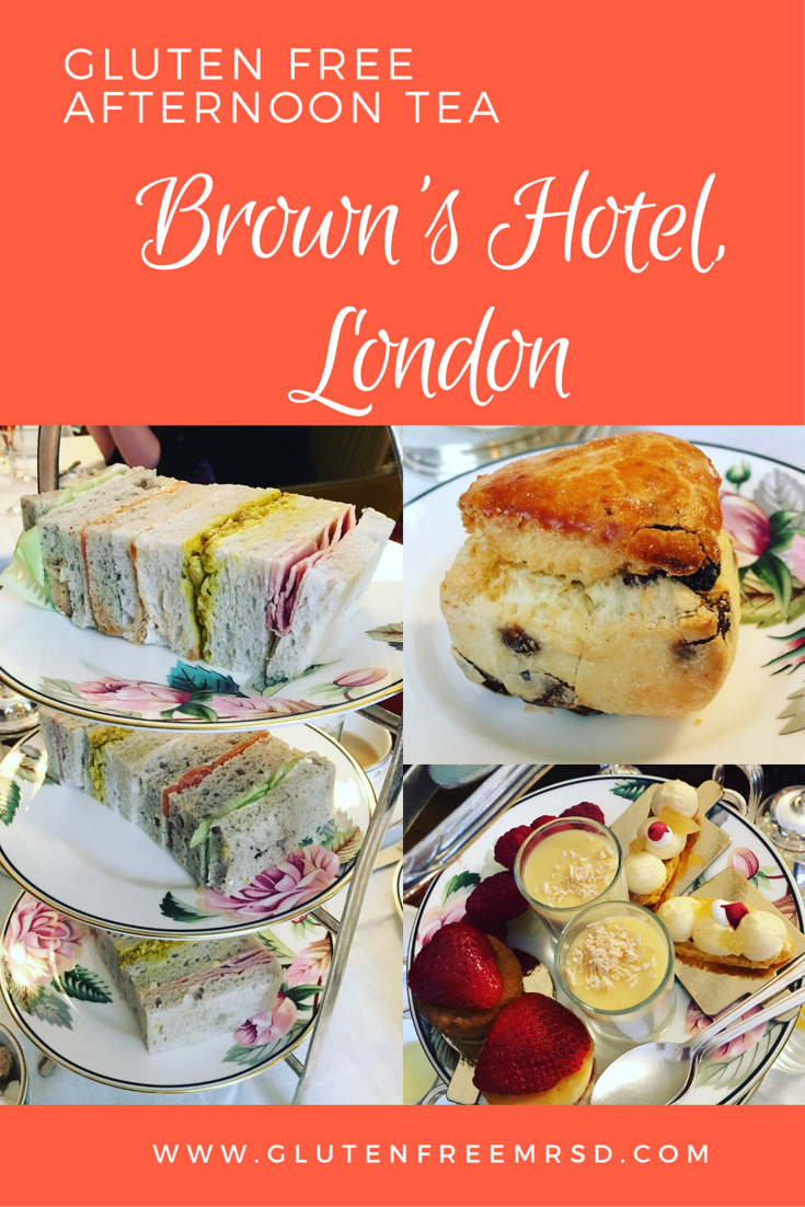 Gluten and Nut Free Afternoon Tea at Brown's Hotel, London