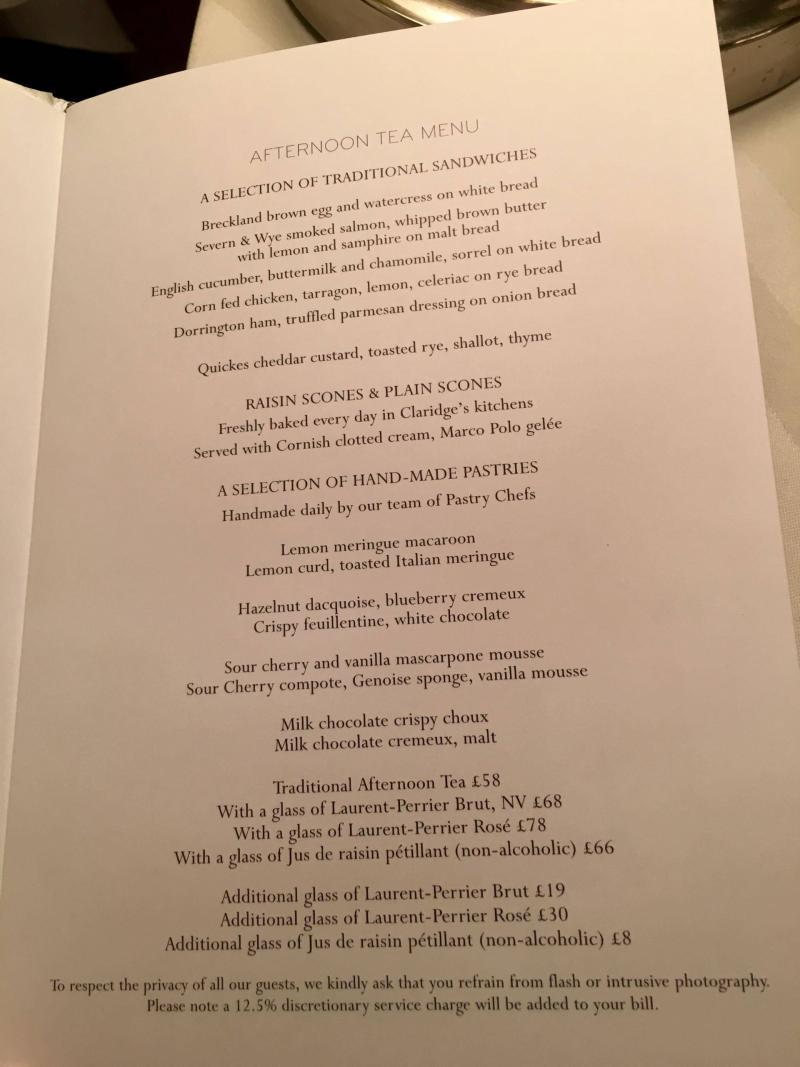 adventures of a gluten free globetrekker gluten free afternoon tea menu Claridges