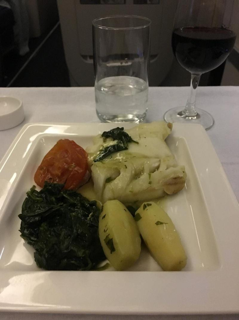 gluten free dinner British Airways Club World