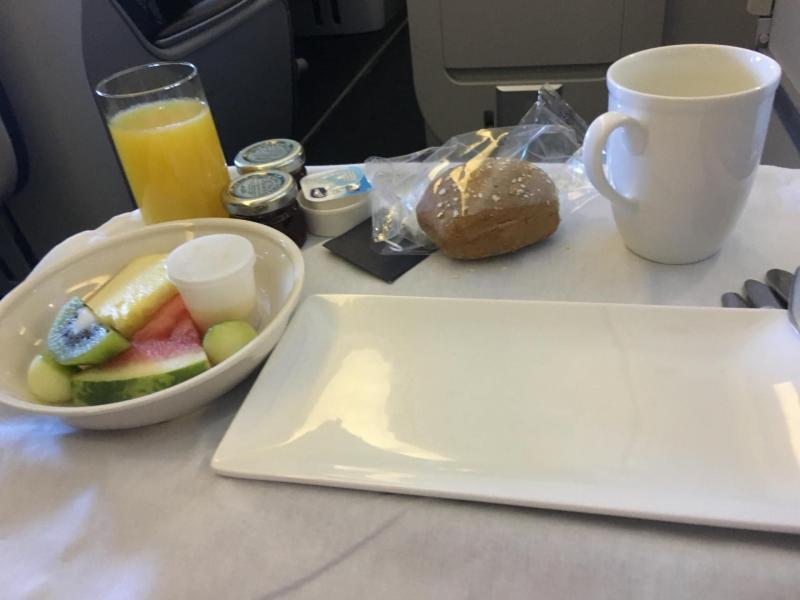 gluten free breakfast British Airways Club World