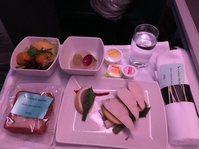 gluten free starter Cathay Pacific Business Class