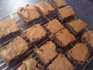 iphone 1415 300x225 Gluten Free Chocolate Brownies....Thanks, Nigella!