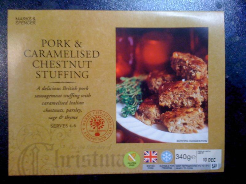 adventures of a gluten free globetrekker M&S gluten free chestnut stuffing